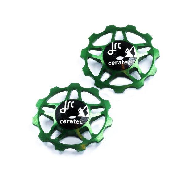 Kółka ceramiczne przerzutki JRC Components 11T do 9/10/11 Sram/Shimano/Campagnolo - ciemno zielone /emerald green/