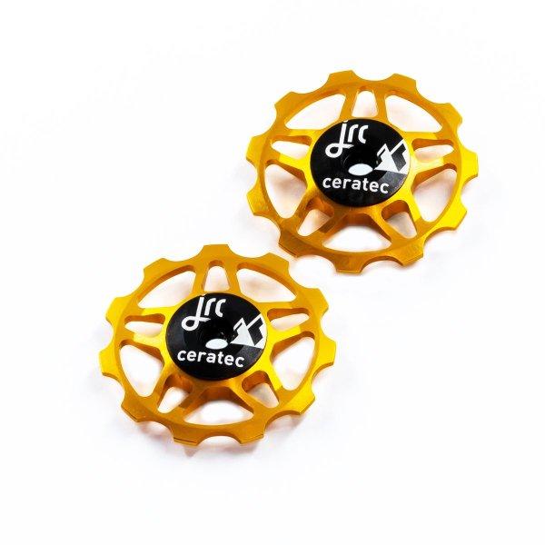 Kółka ceramiczne przerzutki JRC Components 11T do 9/10/11 Sram/Shimano/Campagnolo - złote /gold/