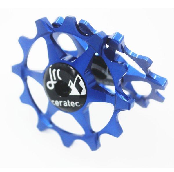 Kółka ceramiczne przerzutki JRC Components 14/12T do SRAM Eagle - niebieskie /blue/