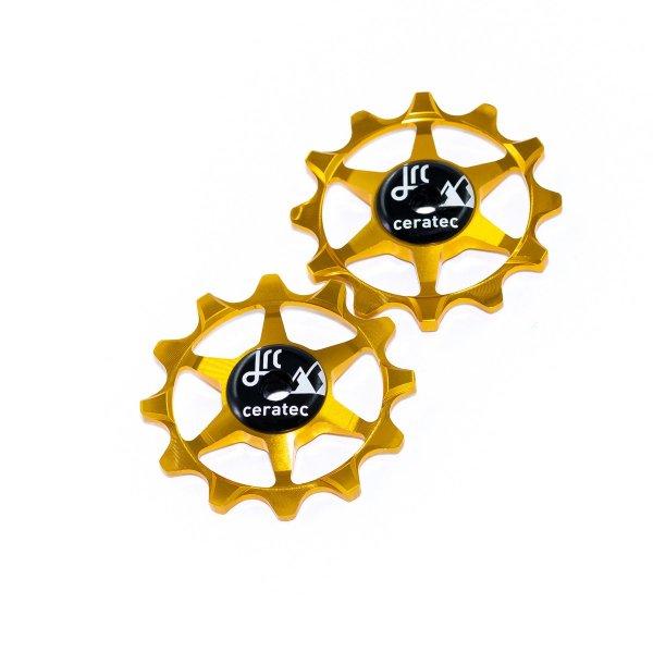 Kółka ceramiczne przerzutki JRC Components 12T do SRAM 1x system - złote /gold/
