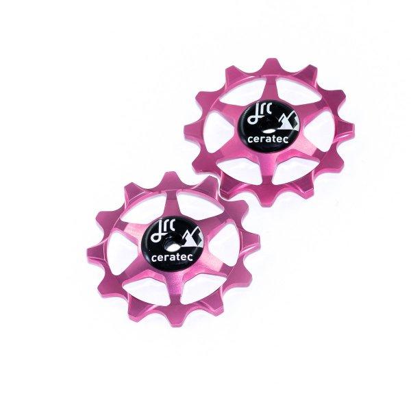 Kółka ceramiczne przerzutki JRC Components 12T do SRAM 1x system - różowe /pink/