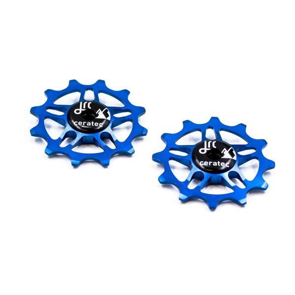 Kółka ceramiczne przerzutki JRC Components 12T do SRAM Force / Red AXS - niebieskie /blue/