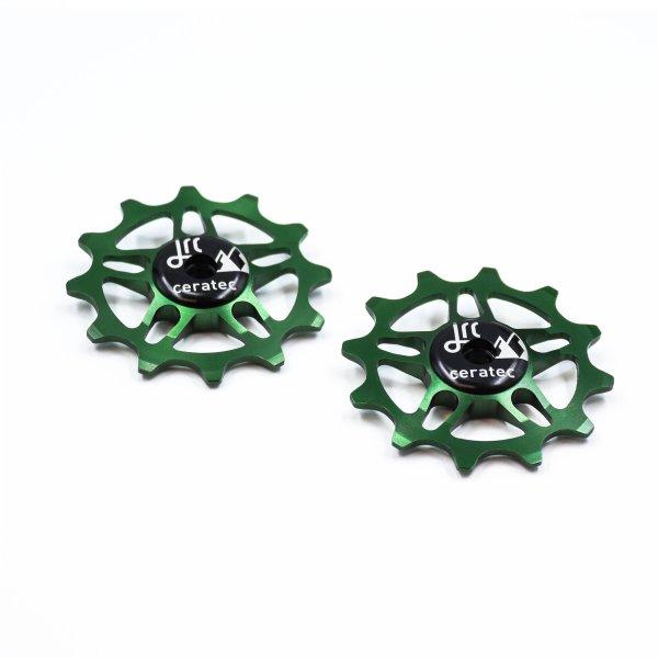 Kółka ceramiczne przerzutki JRC Components 12T do SRAM Force / Red AXS - ciemno zielone /racing green/