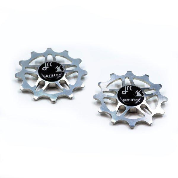 Kółka ceramiczne przerzutki JRC Components 12T do SRAM Force / Red AXS - srebrne /silver/