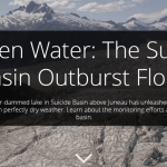 cover of the suicide basin outburst flood story map
