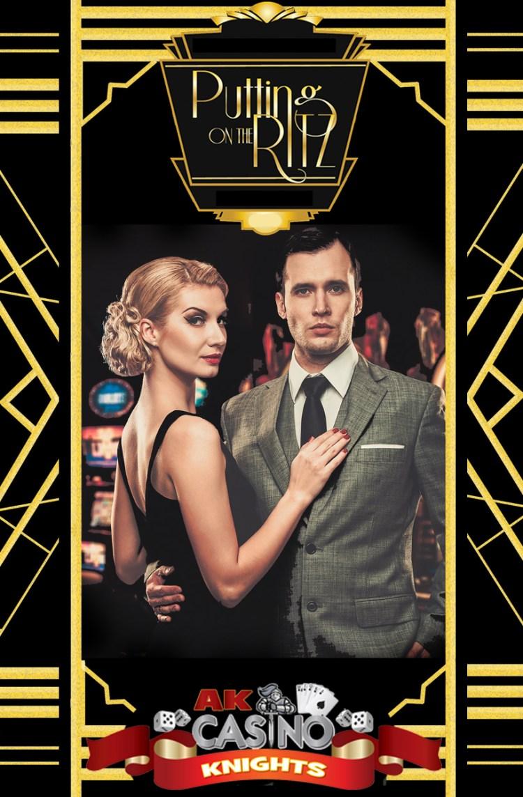 Puttin on the Ritz casino hire at A K Casino Knights