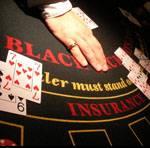 Blackjack table hire at Kents casino party hire