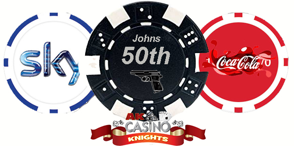 Buy Personalised chips at A K Casino Knights