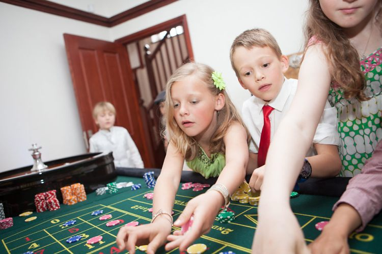 Kids casino hire at A K Casino Knights. Children playing casino games