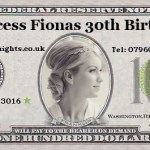 Princess fionas Birthday money Wadhurst casino hire