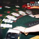 Fun Casino wedding hire, dealing blackjack