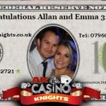 Personalised fun casino money for weddings