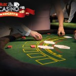 People betting on blackjack at A K Casino Knights