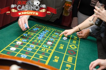 Fun casino roulette chips and table