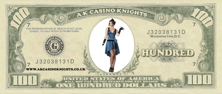 Puttin on the Ritz fun money and theme hire