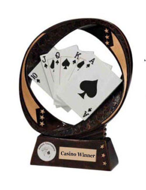Fun casino hire winners trophy