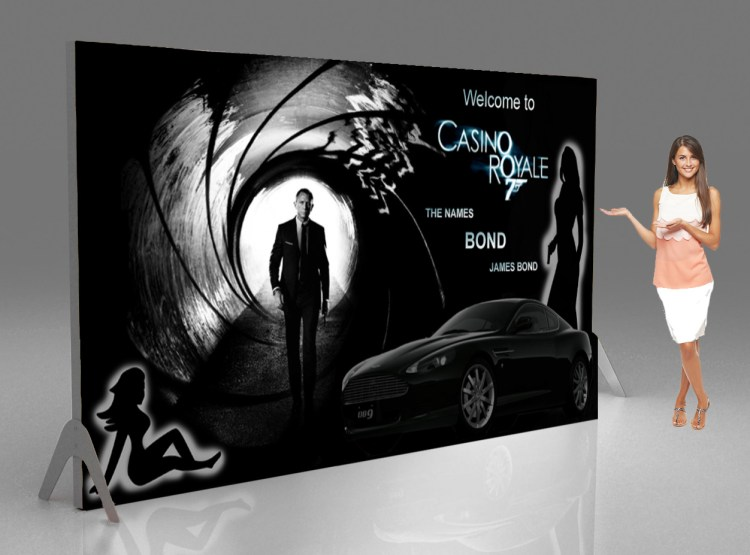 Casino backdrops and banners Secret agent