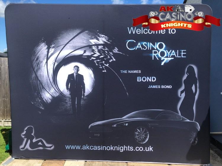 Bond theme hire Fabric Tension displays