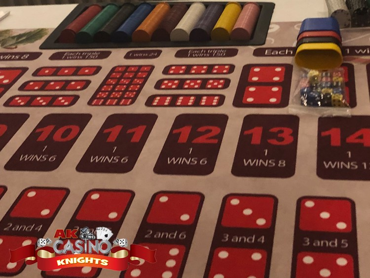 Vintage casino hire sic bo dice game