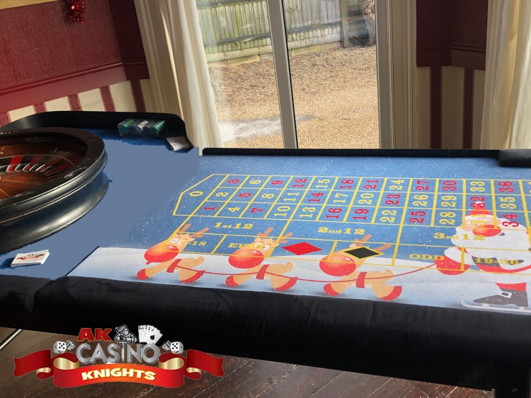 Father Christmas and Reindeer layouts fun casino tables