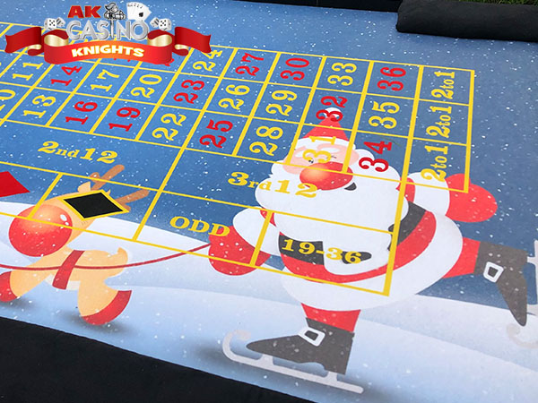 Christmas casino tables