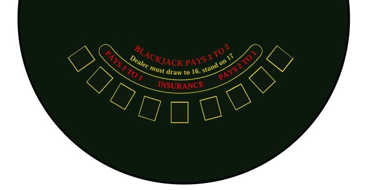 Blackjack fun casino table size
