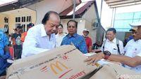 Orang Terkaya RI Kirim Fast Food Pakai Jet Pribadi ke Palu