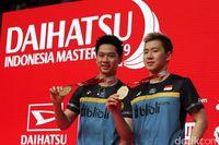 Kevin dan Marcus saat menjadi Juara Indonesia Masters 2019.