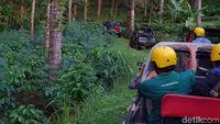 Fun offroad di obyek wisata Tampomas, Banjarnegara.