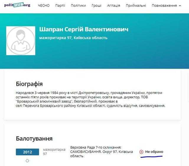 Сергей Шапран сядет за аферы или почему вор Коробка по сей день на свободе?