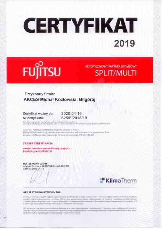 AKCES- Autoryzowany Partner Serwisowy klimatyzacji Fujitsu