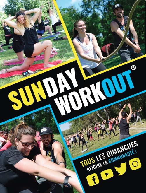 flyers de rentrée association sunday-workout 2017 creation ak digital