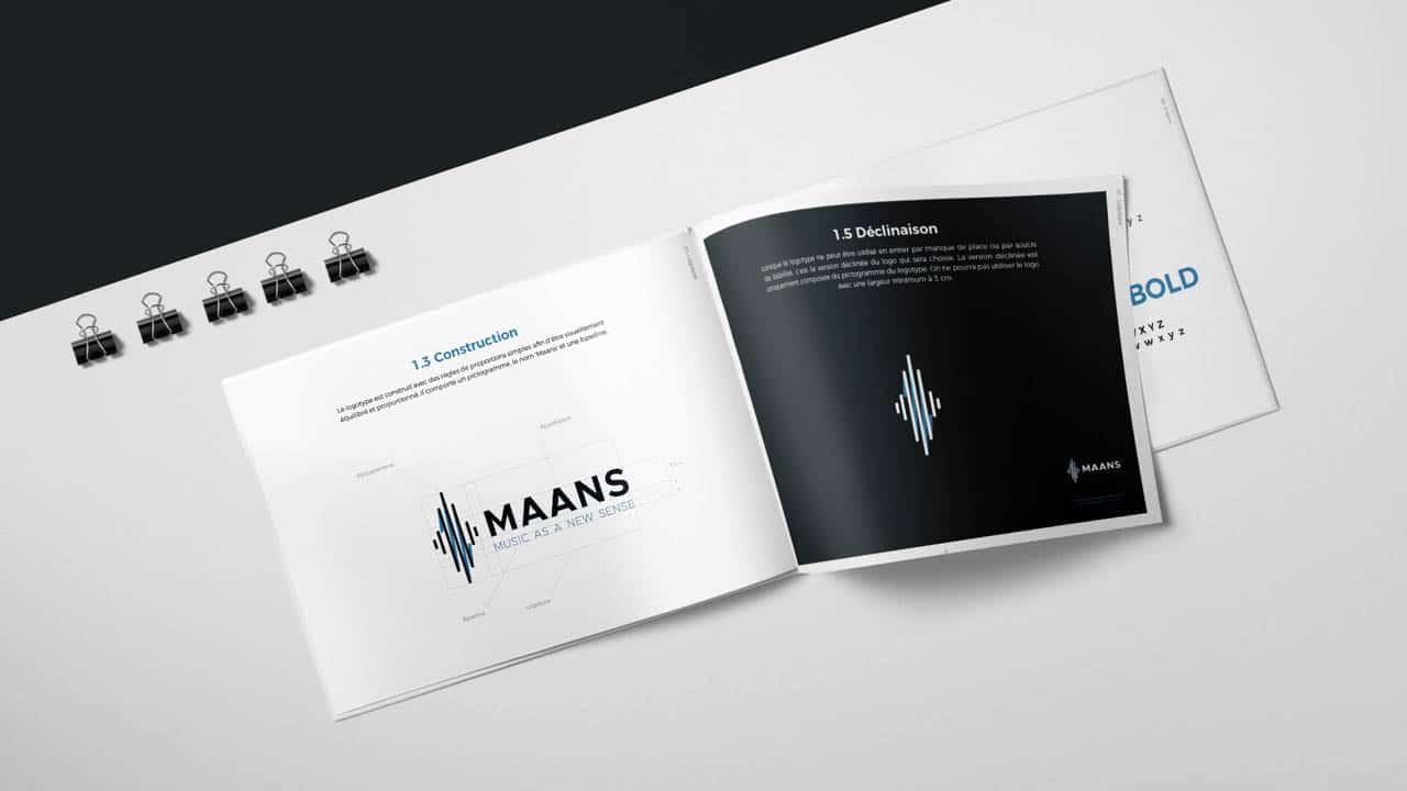 Création de la charte graphique MAANS Création du site internet MAANS agence AK Digital Avignon
