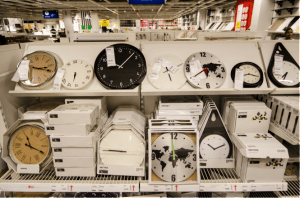 IKEA-clockshelf