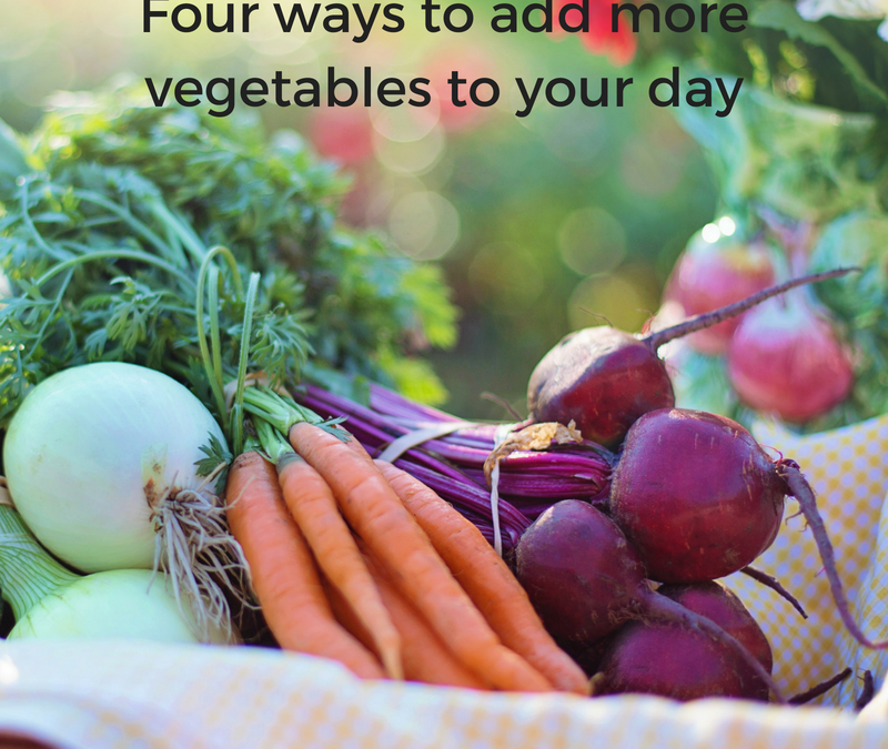 Adding more vegetables to your day
