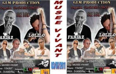 """Affiche du concert """"face à face"""" Fariaz - Lolilo"""
