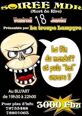 L'affiche officielle de la soirée (www.akeza.net)