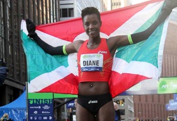 Diane Nukuri Johnson , 2nde au semi marthon de New York (www.akeza.net)
