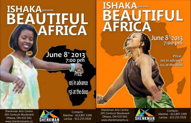 Ishaka présente Beautiful Africa /Affiche de l'événement (www.akeza.net)