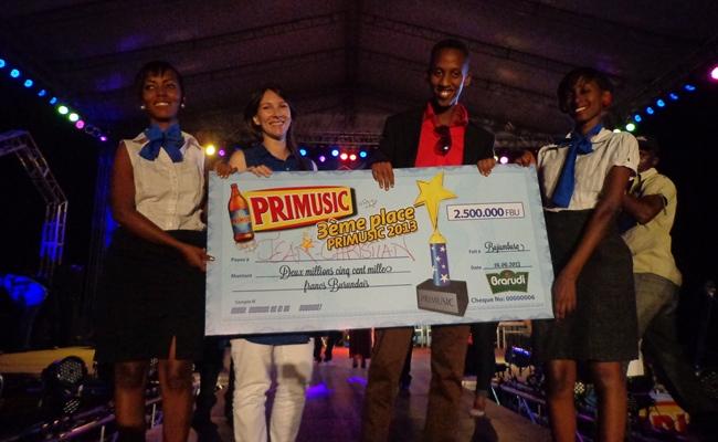 Christian Ninteretse satisfait de sa 3è place à la 2è édition de Primusic   (www.akeza.net)