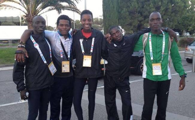 Antoine Gakeme,Alain Horutanga, Diane NUKURI Johnson, Zabulon, Olivier IRABARUTA, tous de la délégation burundaise à Nice (www.akeza.net)