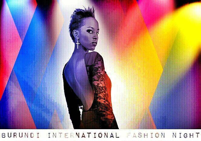 L'une des affiches  conçues pour annoncer l'événement  Burundi international fashion night(www.akeza.net)