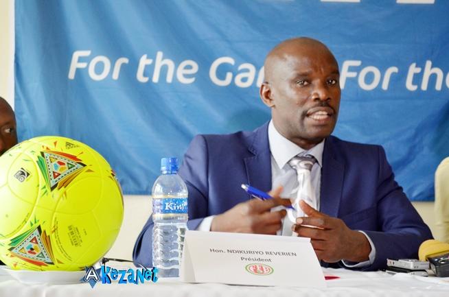 Reverien Ndikuriyo , patron de la FFB.©Akeza.net