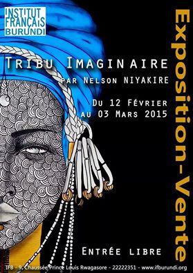 Affiche annoÇant l' exposition de Nelson Niyakire, à l' IFB.(www.akeza.net)