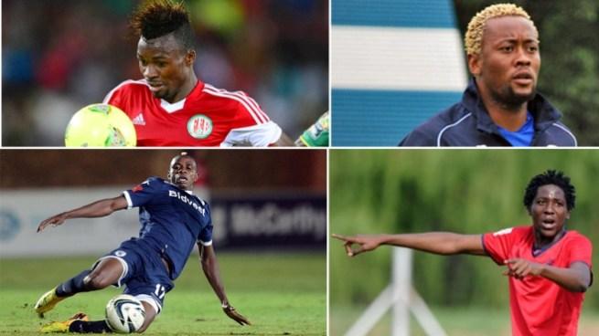 Photos collées des joueurs burundais, qui évoluent en Afrique du Sud.(www.akeza.net)