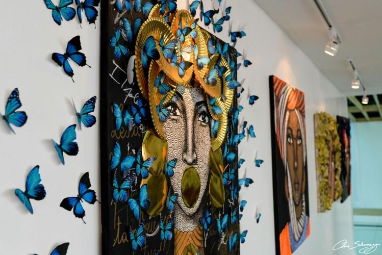 Vue partielle de l'exposition de Nelson Niyakire à Kigali ©Chris Schwagga
