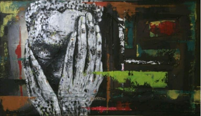 Petite fleur , le tableau que Christian Bujiririconsidère comme sa meilleure oeuvre