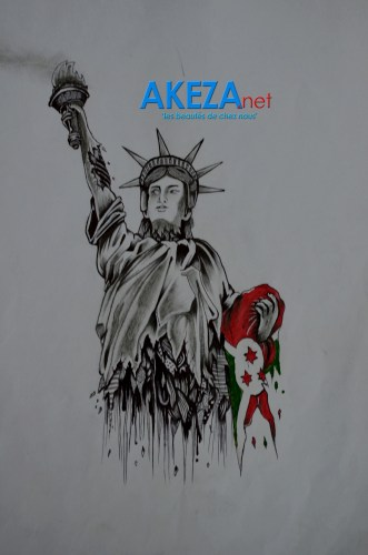 Photo d'un dessin par Christ Berty Nteze ©Akeza.net