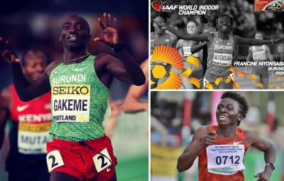 Les athlètes Antoine Gakeme et Francine Niyonsaba
