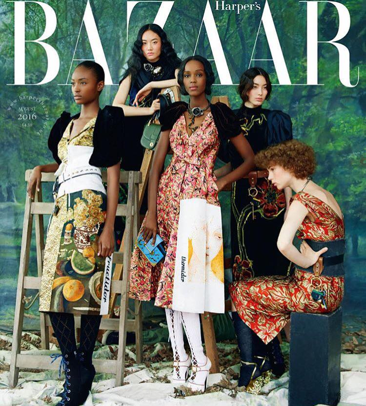 Leila on Harper's Bazaar Cover